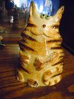 Molde Art Pottery Portugal Figural Kitty Cat Figurine
