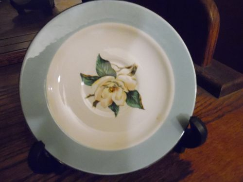 Lifetime China Tourquoise border magnolia center saucer
