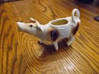 Brown and white porcelain cow creamer W Germany