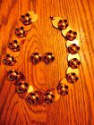 Beautiful Renoir copper necklace and matching earrings  set signed