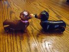 Kissing dachshund ceramic salt and pepper shakers