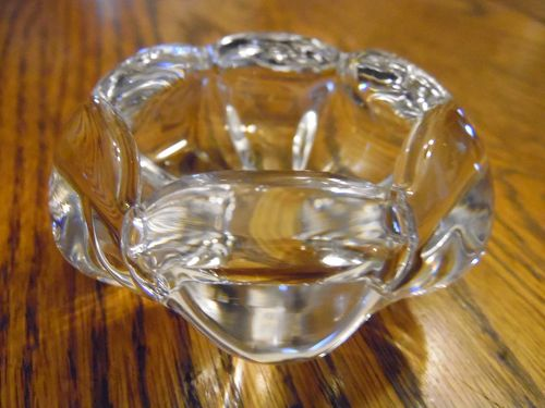 Vintage 1960s Orrefors Swedish crystal ashtray