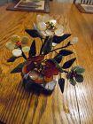 Oriental flowering bonsai jade and gemstone tree