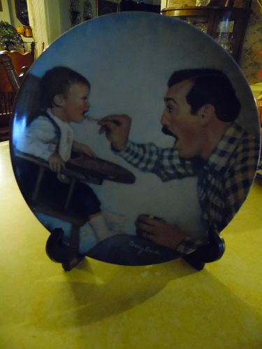 A Fathers Love collectors plate first issue Open Wide by Knowles China