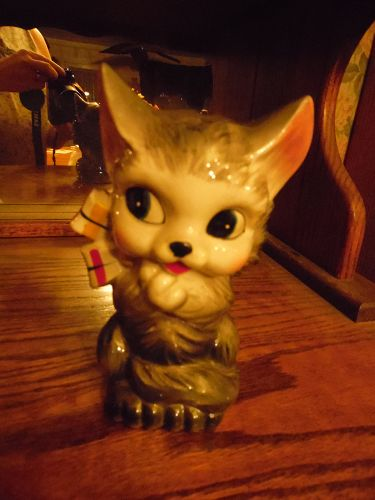 Victoria Ceramics vintage kitty cat bank