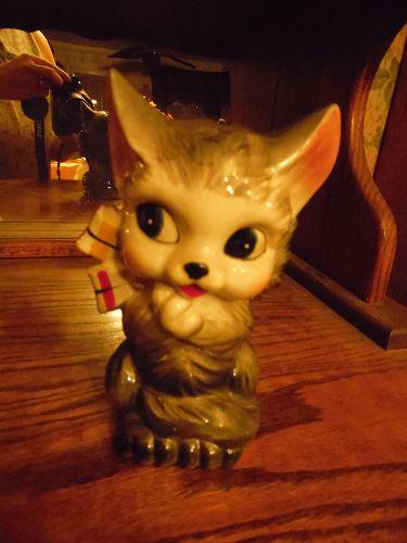 Victoria Ceramics vintage kitty cat bank