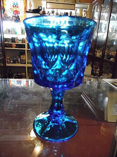 """Vintage Noritake Perspectives blue goblet 6.5"""""""