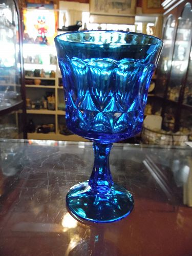 Noritake Perspectives blue wine goblet 4.78""