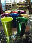 Vintage 8 pc set colorful Norben ware adonized aluminum tumbler set 5""
