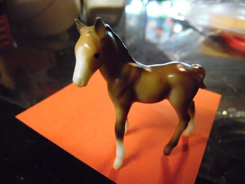 Breyer Stablemates thoroughbred horse standing foal 1975