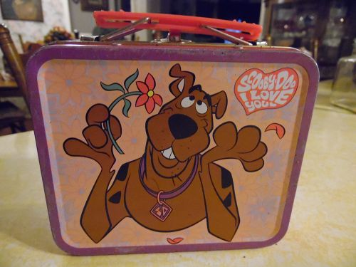 Scooby Doo I love you metal mini lunch box