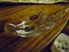 Gorham crystal dove candle holder