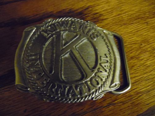 Vintage Kiawanis International belt buckle