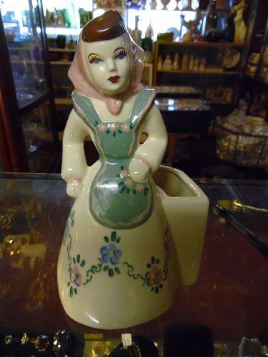 Vintage Weil Ware lady figurine planter