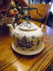 Blue onion danube nordic ceramic decorative teapot