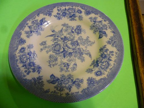 Royal Stafford Asiatic Pheasant powder Blue & White Toile 8.5 plate
