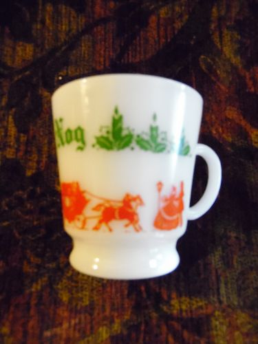 Hazel Atlas Egg Nog cup Red coach replacement cup