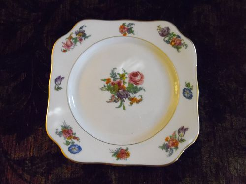 Lamberton  Ivory China Plymouth square salad plate America