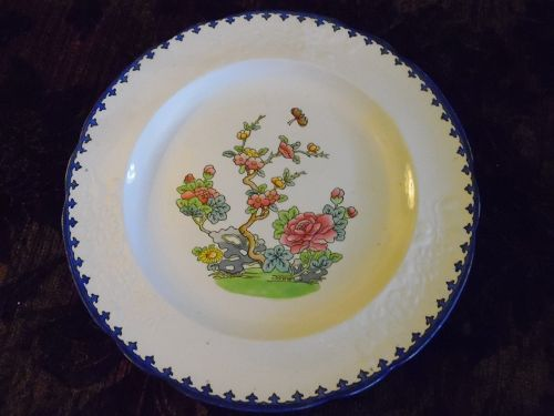 Copeland late Spode Chinese rose dinner plate Jan 1913