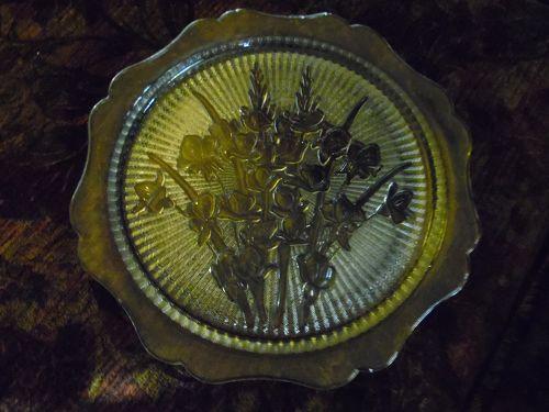 """Jeanette Iris Herringbone serving plate platter 12"""""""