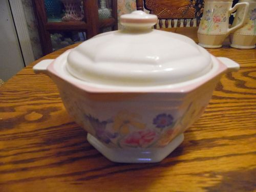 Sarma Victorian Flowers individual casserole with lid