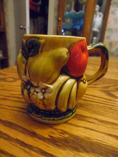 Inarco Orange Spice fruit decorated cup/mug