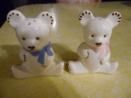 California pottery teddy bear shakers