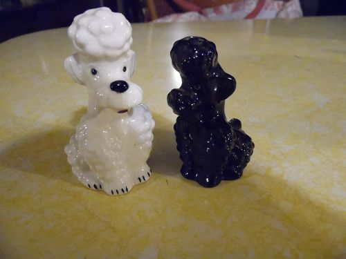 Goebel W Germany poodle dog salt pepper shakers full bee mark