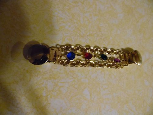 Jewels and chains dress clip or sweater guard
