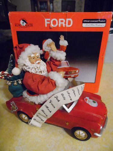 Fabriche Kurt S.Adler Santa in Ford Mustang, orig box