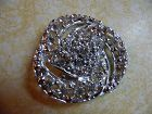 Large vintage crystal rhinestone pin brooch