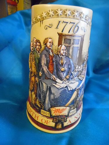 Miller Birth of a nation Stein #2, Signing Declaration of Independence
