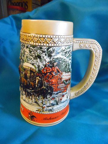 1987 Budweiser Holiday stein Gates of Grants Farm