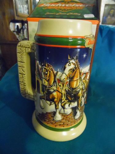 Budweiser 1998 holiday stein Boxed