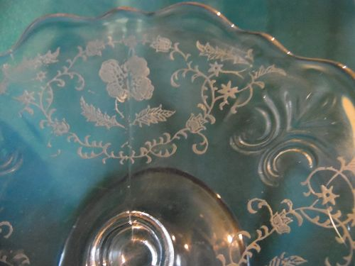 Fostoria Baroque cheese compote Shirley pattern #331