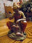 Homco style bisque porcelain figurine of a shoe cobbler