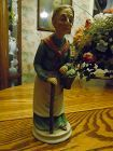 Homco style bisque figurine of old lady with cane