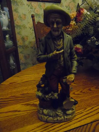 Homco style old man with shovel figurine 12""