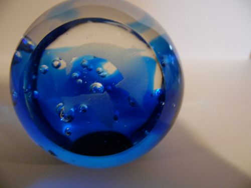 Leaping dolphins Glass ball control bubble paperweight