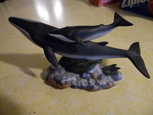 Homco Masterpiece Porcelain Fin Whales figurine