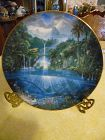 Sanctuary of the dolphin collector plate  Enchanted Seascapes series