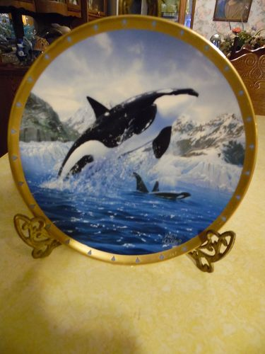 Orca plate From the Whale Conservation plate collection by Lenox