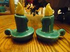 Vintage ceramic candle holder salt and pepper shakers
