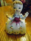 Vintage 1956 Napco Ceramic Porcelain Planter Girl in scarf c2267c