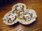 Enesco  floral Heirloon 3 section server E2370