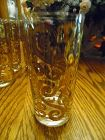 Amazing Culver Toledo crystal and gold High ball glasses SIX