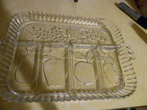 Indiana Glass  Fruit Garland  5 part Divided Relish Tray