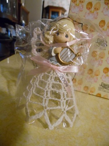 Avon Precious Moments Graced with lace  bell ornament 2004