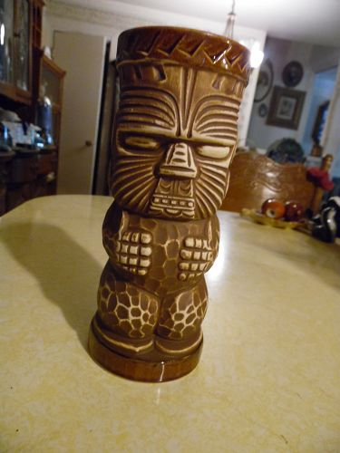 Trader Dicks Nugget  casino tiki totem drink glass