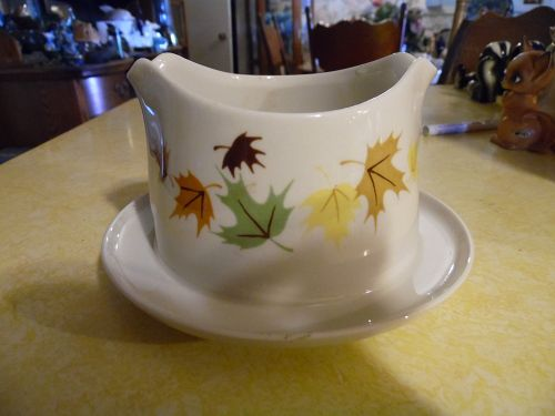 Franciscan Indian Summer pattern gravy boat with attached liner